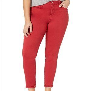 NYDJ red skinny jean 18W